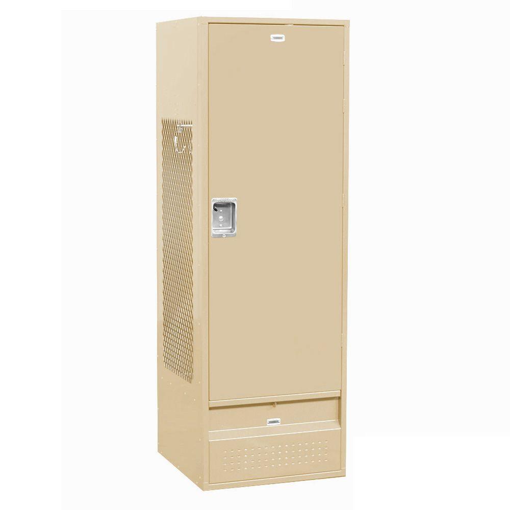 71000 Series 24 in. W x 72 in. H x 24 in. D Gear Metal Locker with Solid Door Unassembled in Tan
