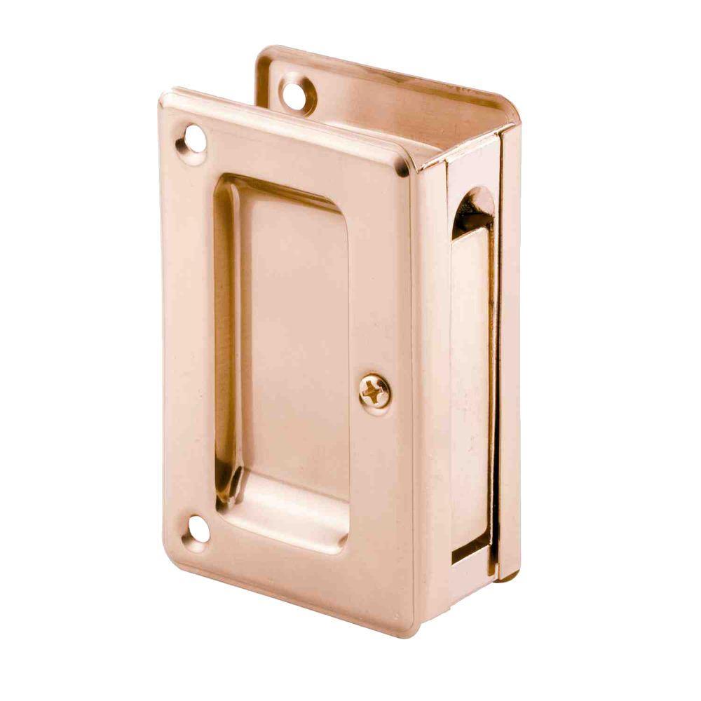 Prime Line 3 34 In Brass Pocket Door Passage Pull N 7361 The
