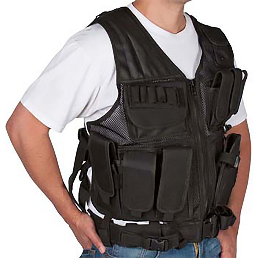 Adjustable Tactical Military and Hunting Vest Black