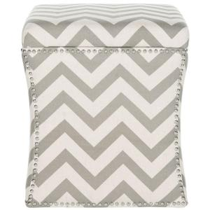 Super Safavieh Flora Grey Zigzag Storage Ottoman Mcr4670A The Ocoug Best Dining Table And Chair Ideas Images Ocougorg
