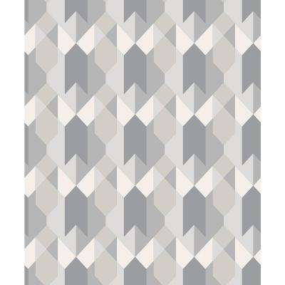 8 in. x 10 in. Copenhagen Grey Geometric Sample