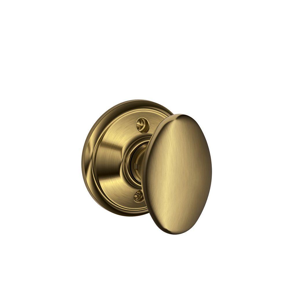 Schlage Siena Antique Brass Dummy Knob