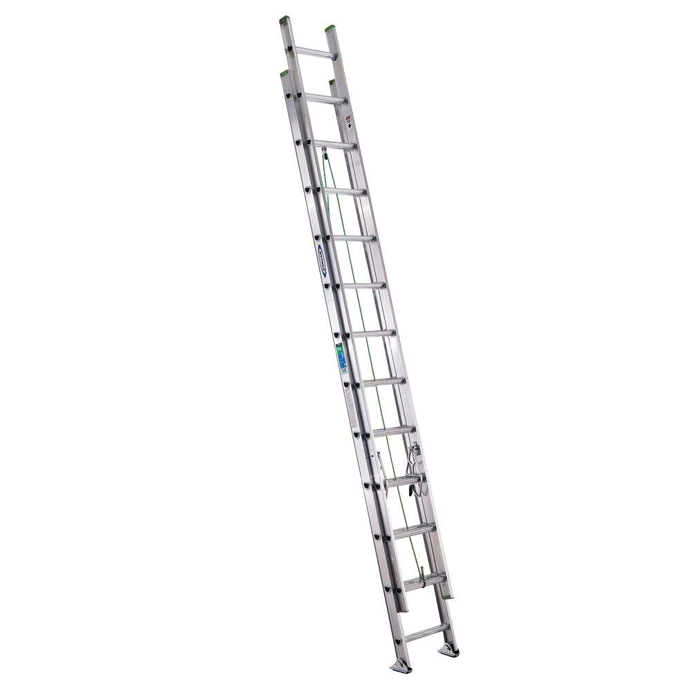 24 ft. Aluminum Extension Ladder with 225 lb. Load Capacity Type