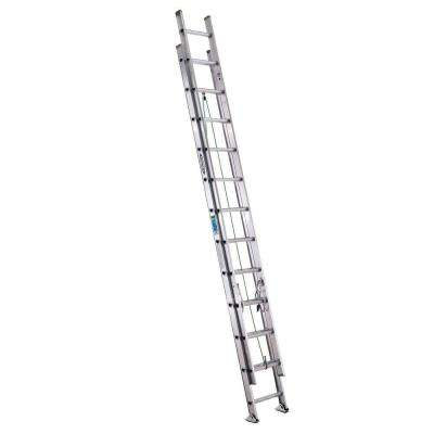 24 ft. Aluminum Extension Ladder with 225 lb. Load Capacity Type II Duty Rating
