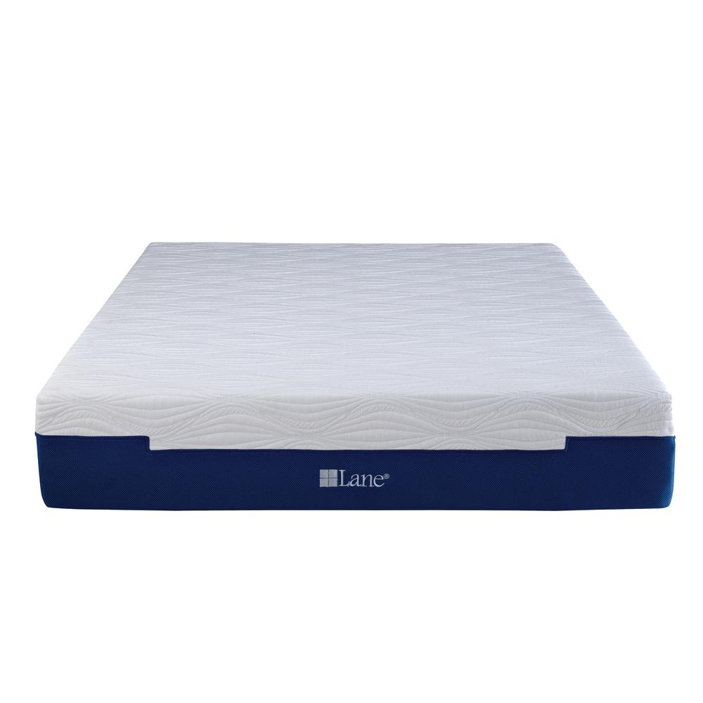 Lane King Metal Adjustable Bed Frame Base Mattress Blue White Black