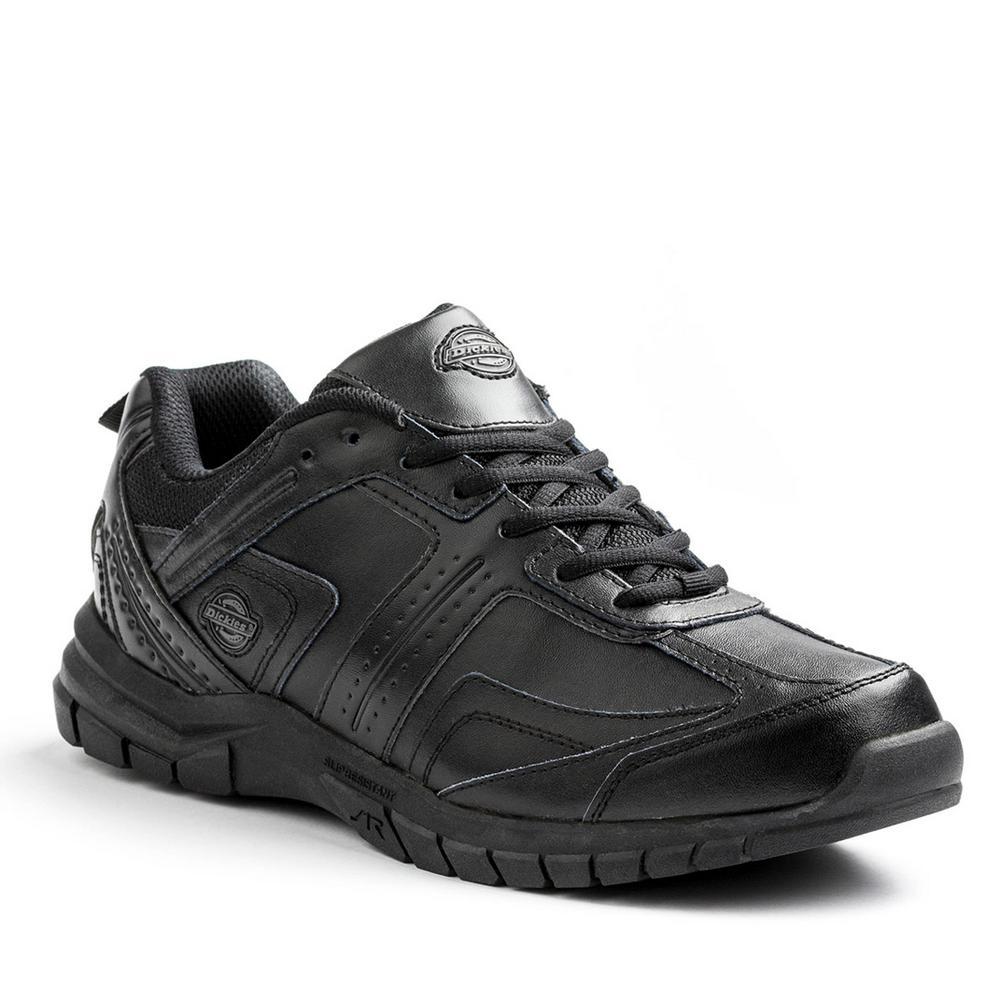 Black Slip Resistant Safety Work Shoe