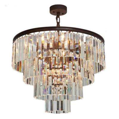 El Dorado 9-Light Java Brown Chandelier