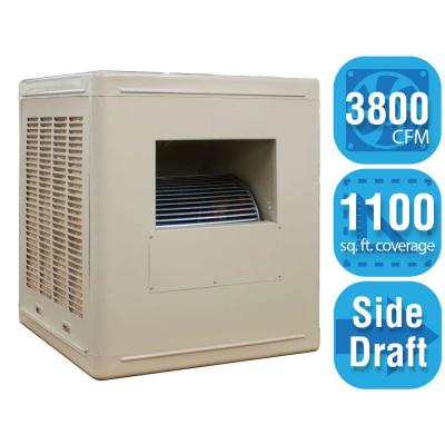3,800 CFM Side-Draft Aspen Roof/Side Evaporative Cooler for 14 in. Ducts 1,100 sq. ft. (Motor Not Included)