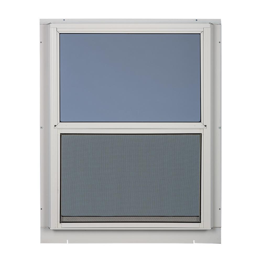 Weatherstar 24 In X 55 In 2 Track Storm Aluminum Window