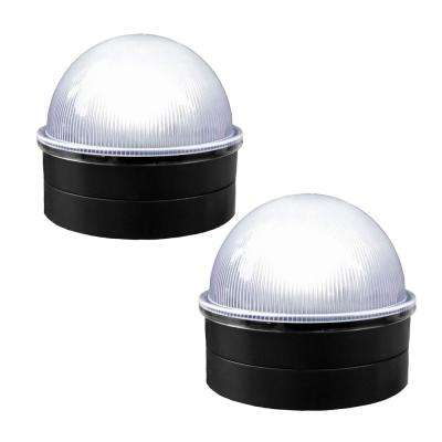 Black Chainlink Summit Solar Post Cap LED Post Cap (2-Pack)