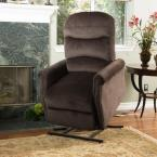 Noble House Halea Chocolate Fabric Lift Up Recliner
