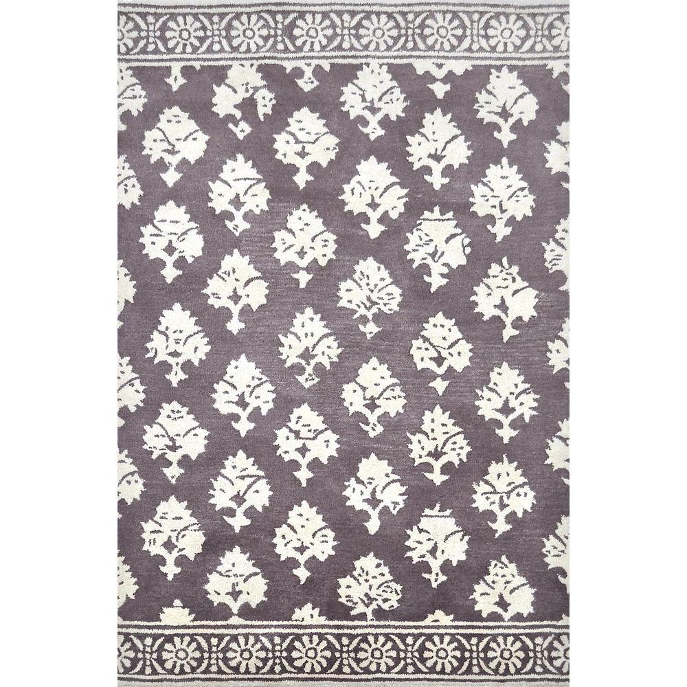 null Marseille Dusty Plum 5 ft. x 7 ft. 6 in. Wool Indoor Area Rug