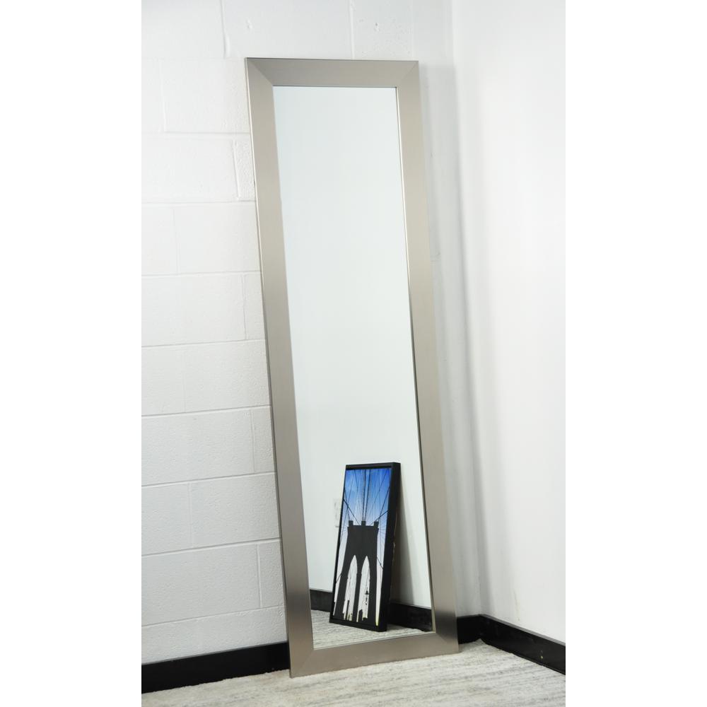 Brandtworks Modern Silver Full Length Mirror Bm1skinny