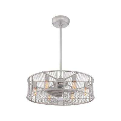 Boyd Collection 26 in. LED Indoor Platinum Ceiling Fan with Remote Control