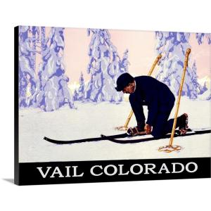 Vail Colorado Vintage Advertising Poster by ArteHouse Canvas Wall Art