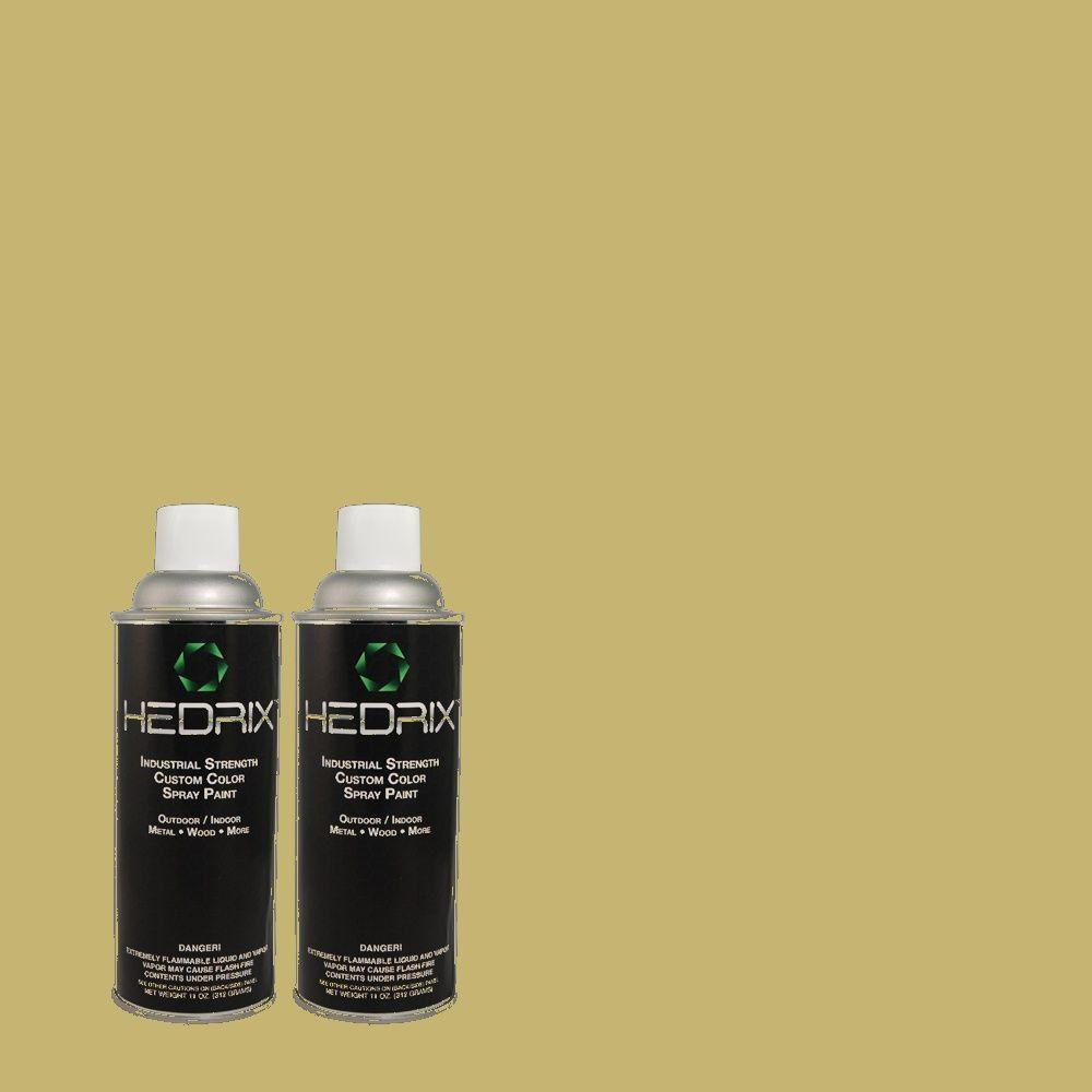 Hedrix 11 oz. Match of MQ6-60 Everglade Low Lustre Custom Spray Paint (2-Pack)