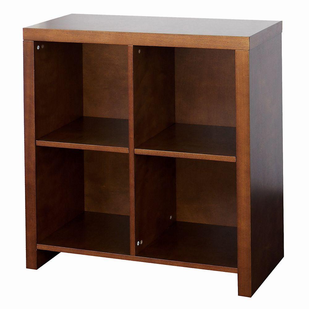 DonnieAnn Guildford 4-Shelf Bookcase in Chestnut