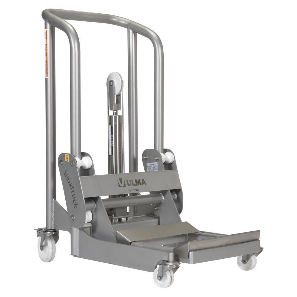 850 lbs. Capacity Stainless Steel Hydraulic Foot Pump Roll Handler