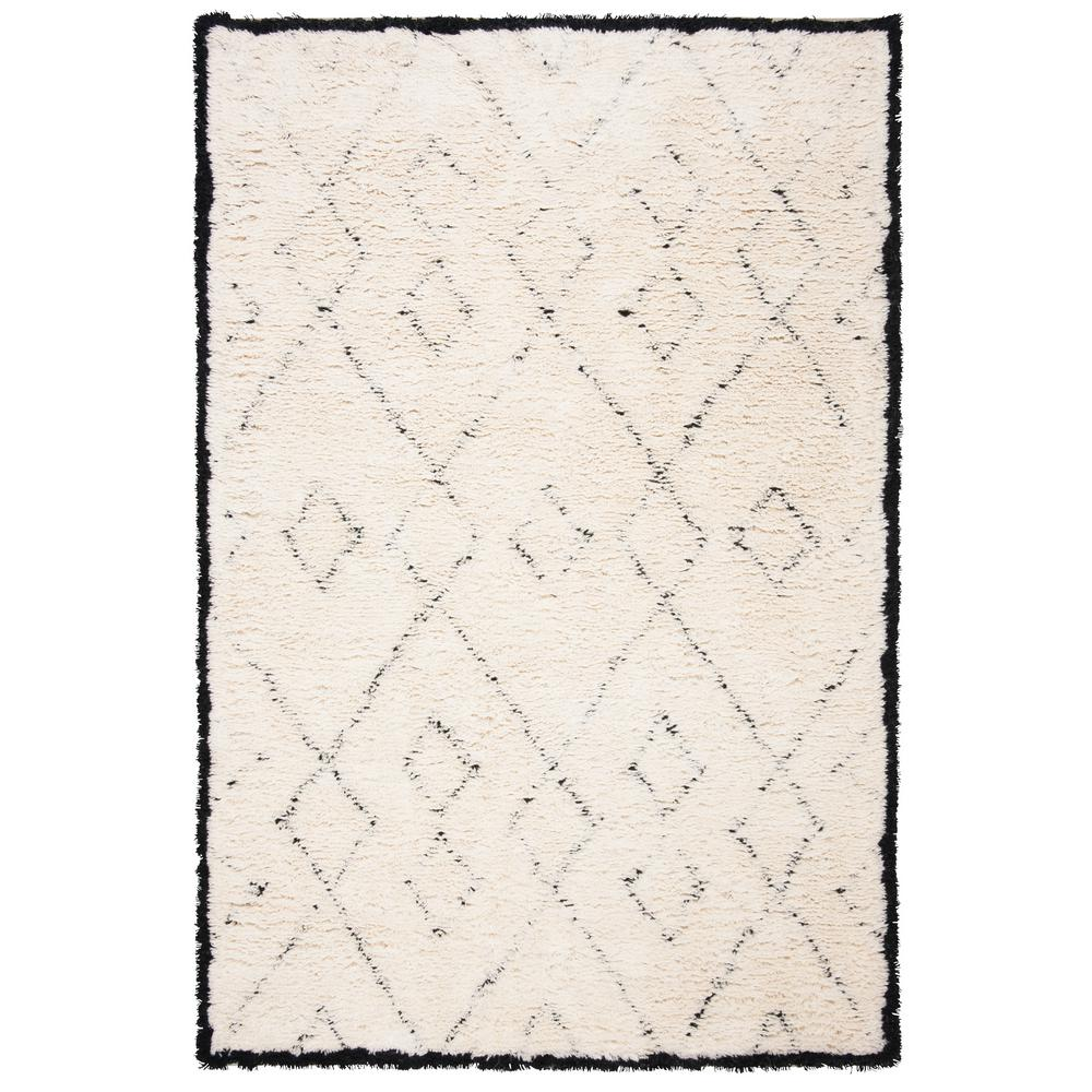Safavieh Casablanca Ivory Black 4 Ft X 6 Ft Area Rug Csb917a 4 The Home Depot