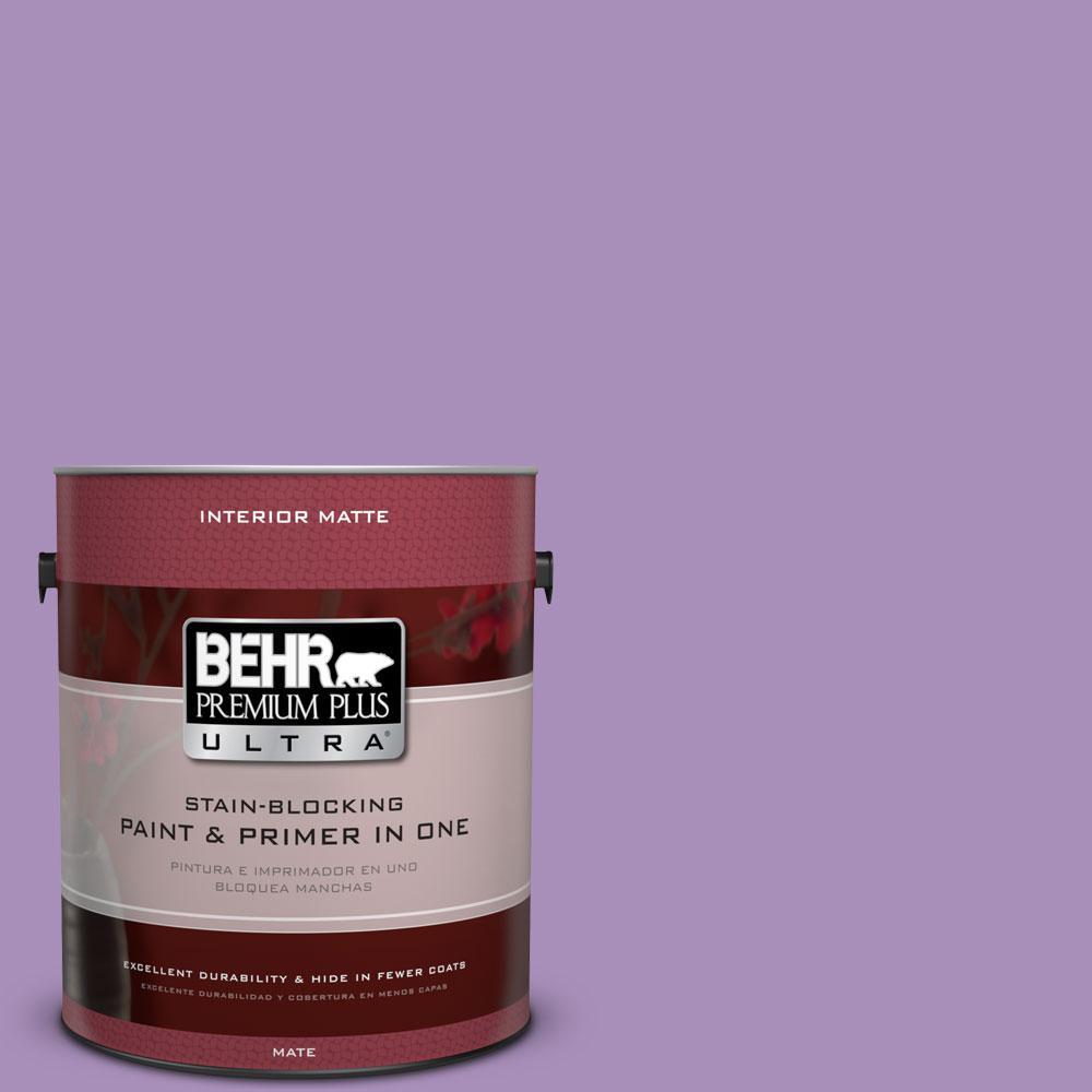 BEHR Premium Plus Ultra 1 gal. #650B-5 Garden Pansy Flat/Matte Interior Paint