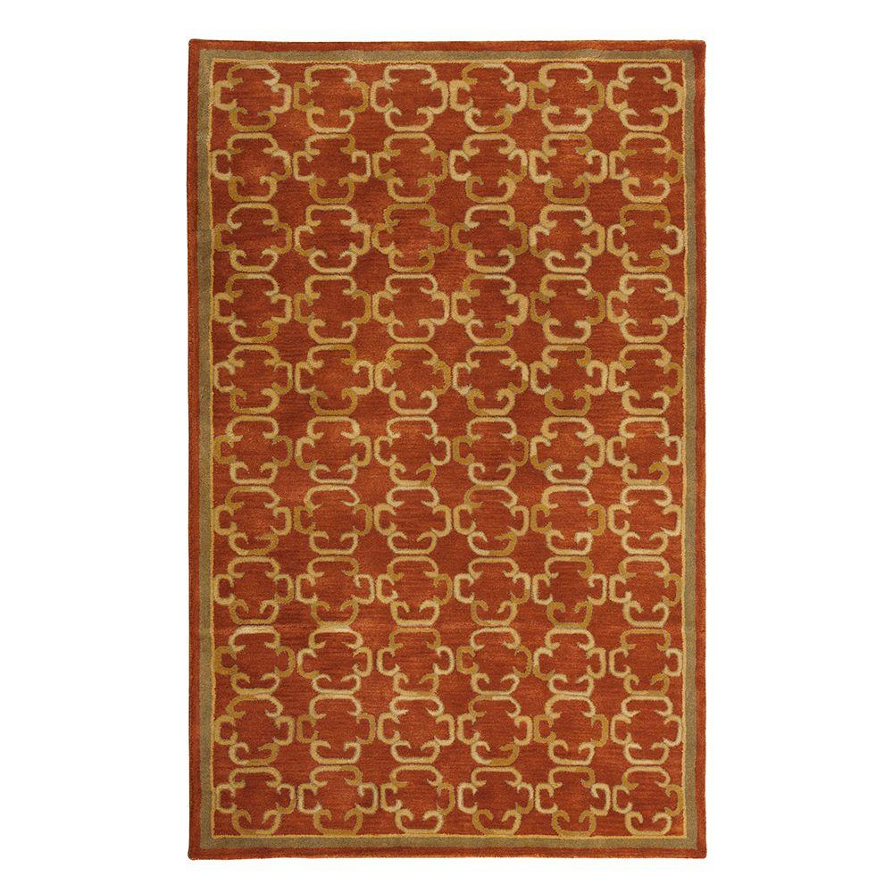 Home Decorators Collection Chester Rust and Gold 3 ft. x 5 ft. Area Rug