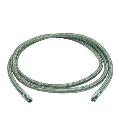 1/4 in. Compression x 1/4 in. Compression x 84 in. Braided Polymer Icemaker/Humidifier Connector