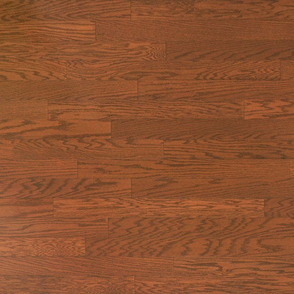 Prefinished Taun Solid Hardwood Flooring 5 8 X 4 3 4: Heritage Mill Oak Almond 3/8 In. Thick X 4-3/4 In. Wide X