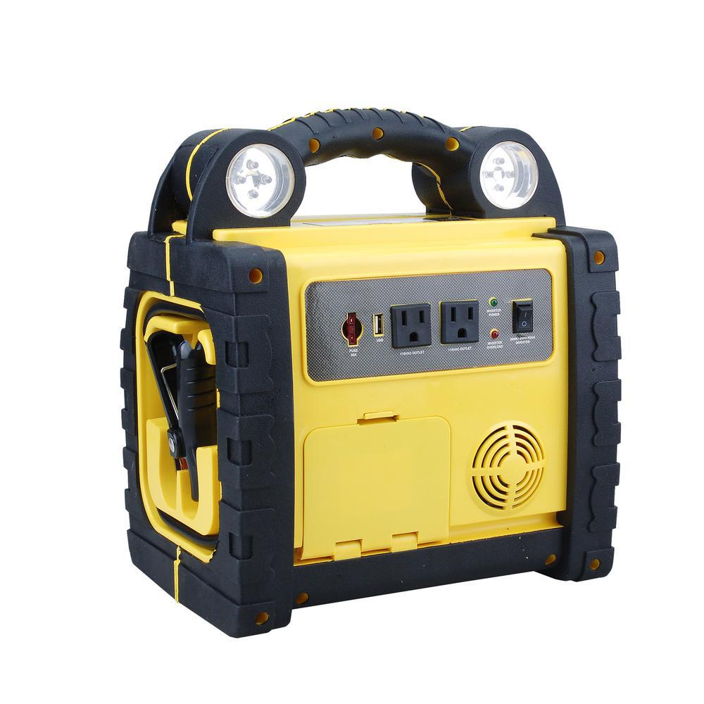 Ultra Performance 5-in-1 Power Station with Integrated Jump Starter, Compressor, Power Inverter, USB Charger and Flashlight