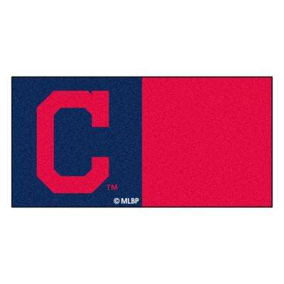 MLB - Cleveland Indians Navy and Red Nylon 18 in. x 18 in. Carpet Tile (20 Tiles/Case)