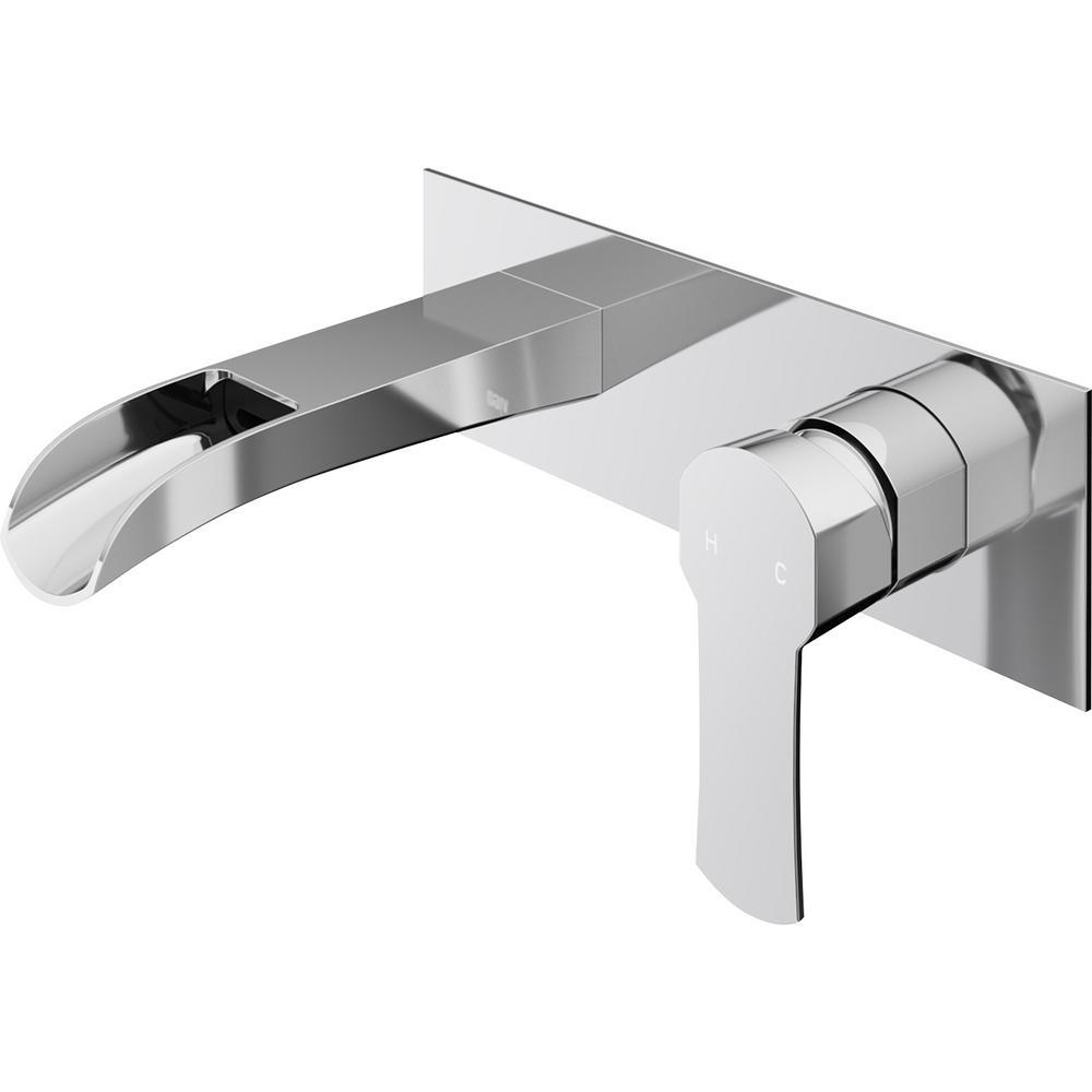 Cornelius Single-Handle Wall Mount Bathroom Faucet in Chrome