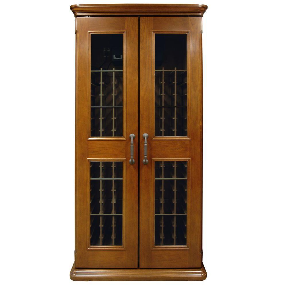 Vinotemp Sonoma Classic 600 Model Wine Cabinet, Medium Finish-DISCONTINUED