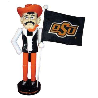 12 in. OK State Mascot Nutcracker with Flag