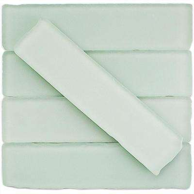 Ocean Mist Beached Frosted Glass Subway Tile - 2 in. x 8 in. Tile Sample