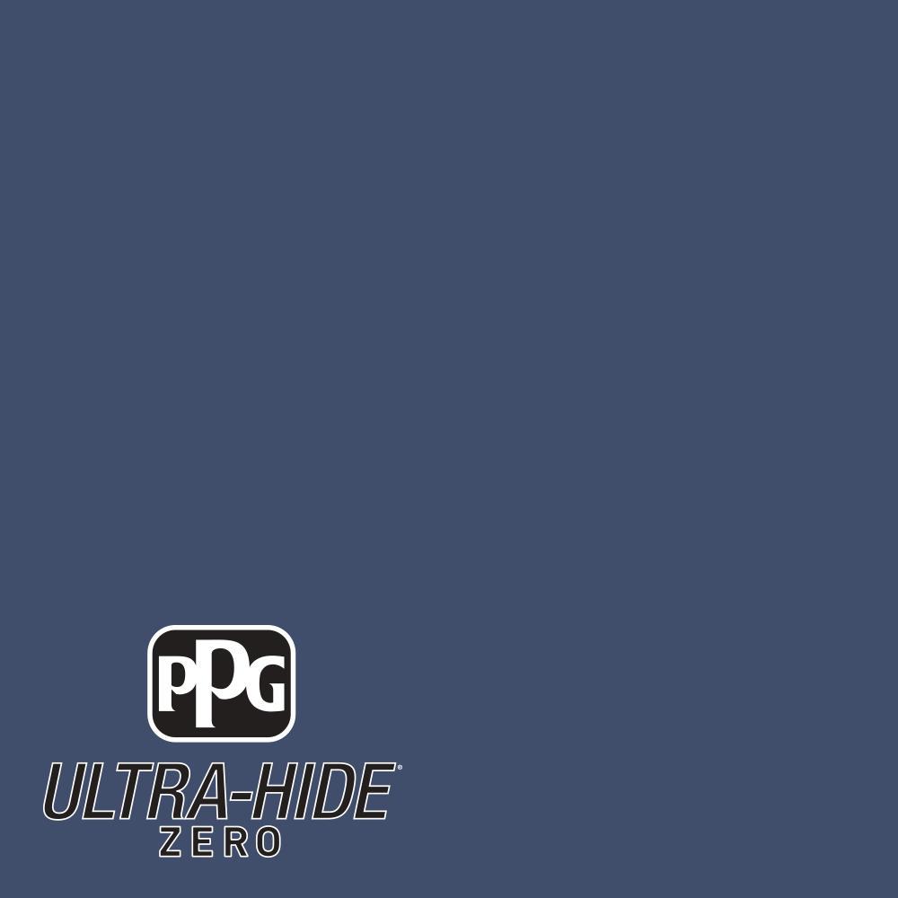 PPG 1 gal. #HDPV26 Ultra-Hide Zero Rich Navy Semi-Gloss Interior Paint