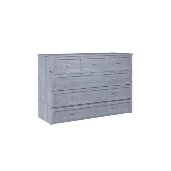 Deerfield Murphy Driftwood Queen Bed Chest with Charging Station