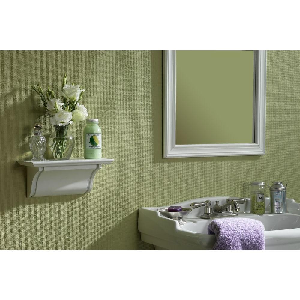Graham & Brown Linen Paintable White Wallpaper