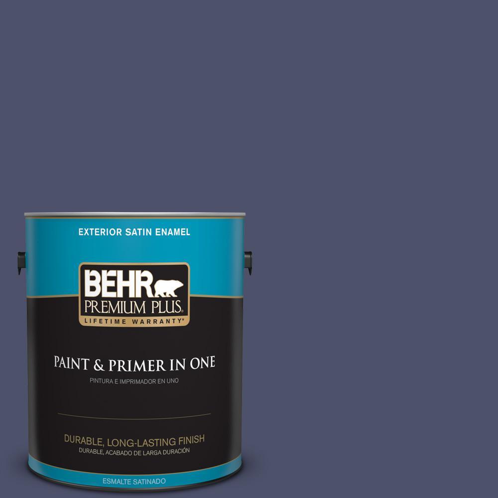 1 gal. #PPU15-18 Vintage Velvet Satin Enamel Exterior Paint
