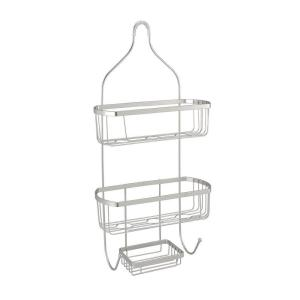 Click here to buy Bath Bliss Prince Style Shower Caddy in Satin by Bath Bliss.