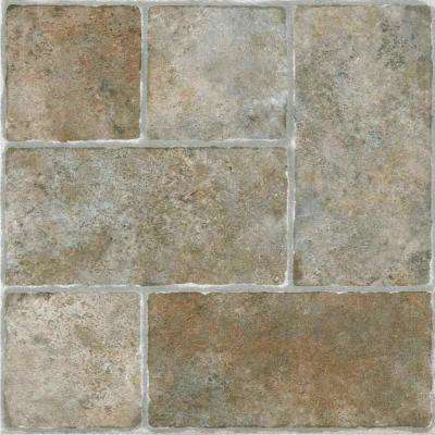 Sterling Grey 12 in. x 12 in. Peel and Stick Cottage Stone Vinyl Tile (20 sq. ft./case)