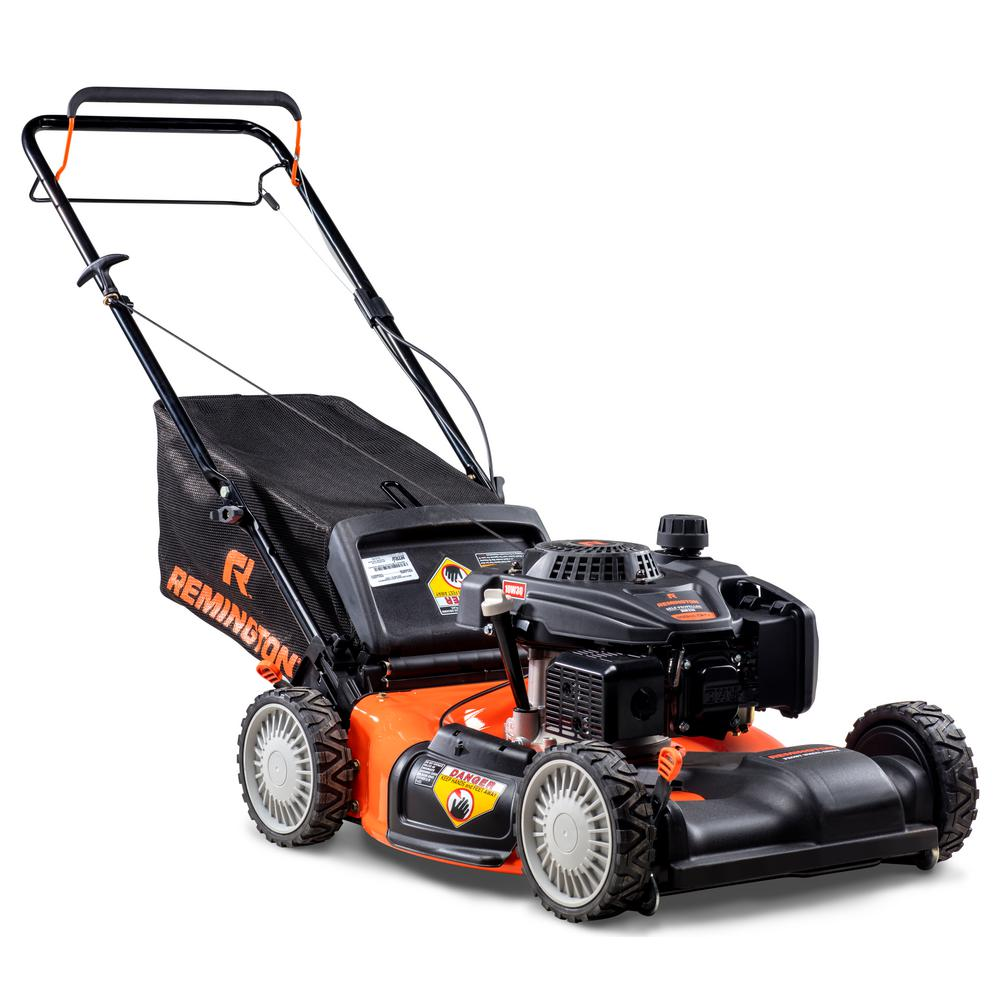 Remington 21 in. 159cc Front-Wheel-Drive 3-in-1 Gas Walk Behind Self Propelled Lawn Mower