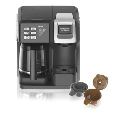 FlexBrew 12-Cup Black Drip Coffee Maker with Built-In Timer