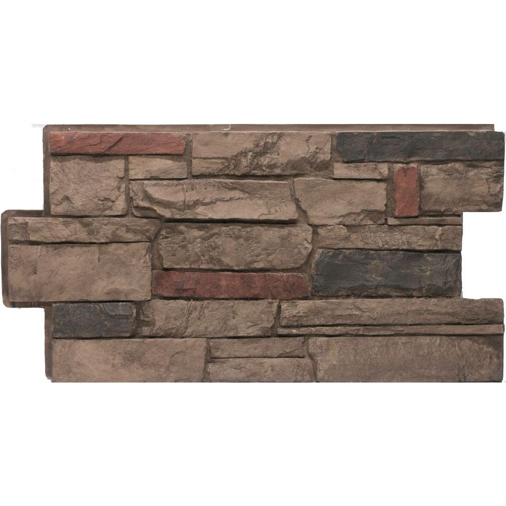 Urestone Ledgestone 25 Mocha 24 In X 48 In Stone Veneer Panel 4 Pack Dp2610 25 The Home Depot