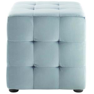 Outstanding Modway Contour Light Blue Tufted Button Cube Performance Gmtry Best Dining Table And Chair Ideas Images Gmtryco