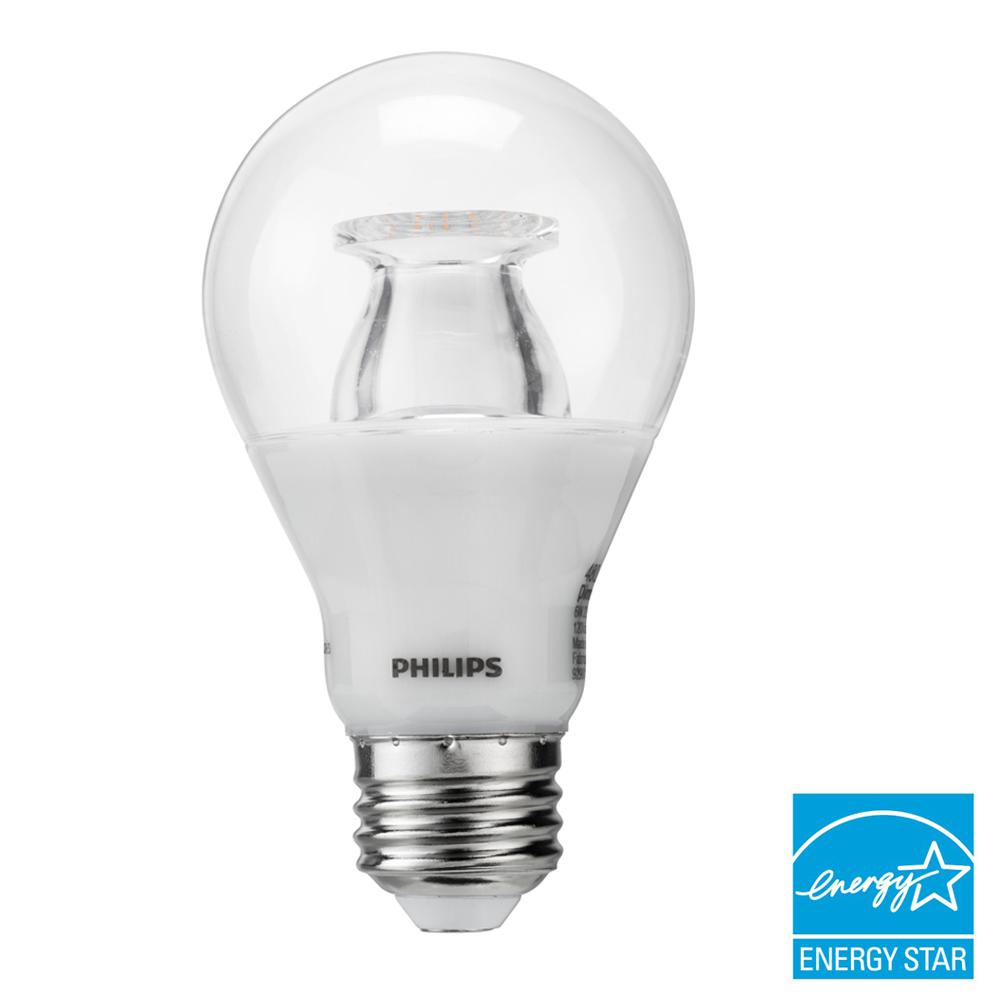 40W Equivalent Soft White Clear A19 LED Energy Star Warm Glow