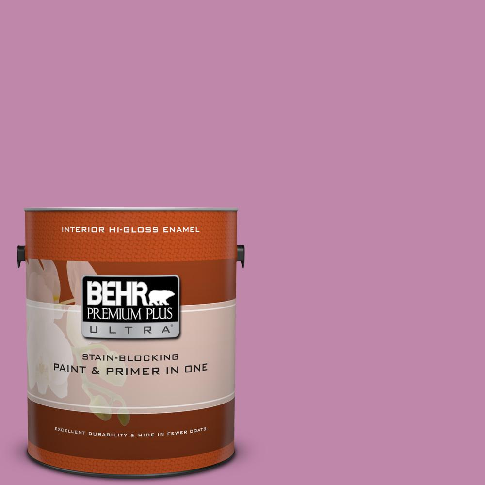 1 gal. #M120-5 Rosy Hi-Gloss Enamel Interior Paint