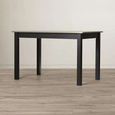 Carter Black Stainless Steel Top Dining Table