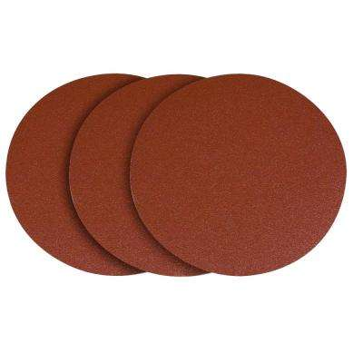 12 in. 120-Grit PSA Aluminum Oxide Sanding Disc/Self Stick (3-Pack)