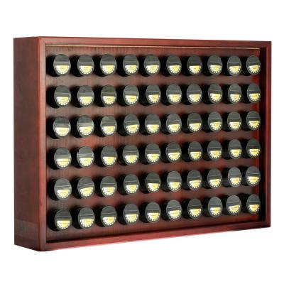 Cherry Wood Spice Rack with 60 Jars