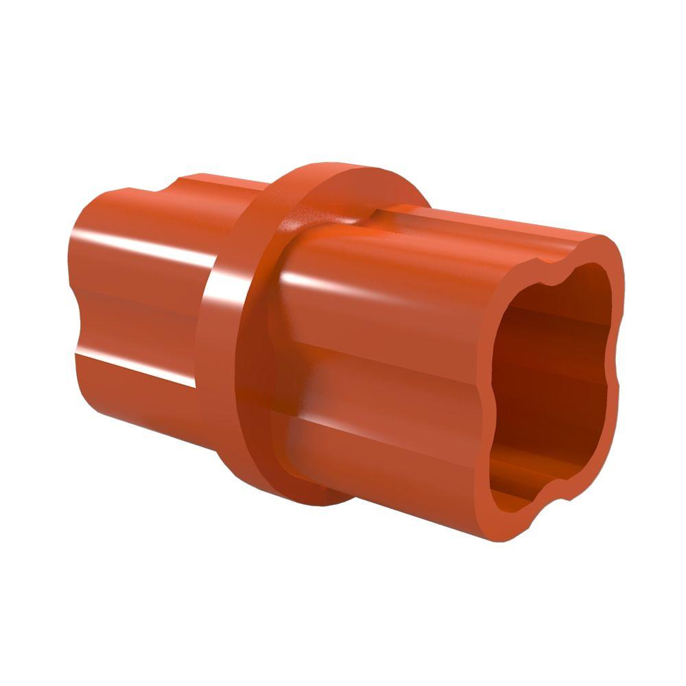 1-1/4 in. Furniture Grade PVC Sch. 40 Internal Coupling in Orange