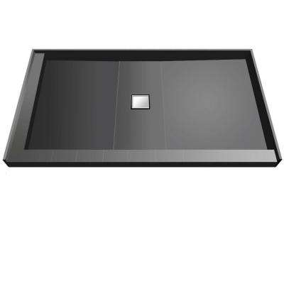 42 in. x 60 in. Double Threshold Shower Base with Center Drain